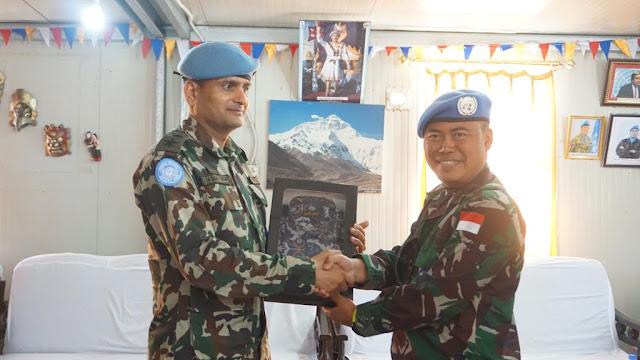 Satgas Indobatt Konga XXIII-N/UNIFIL Berkunjung ke Nepal Battalion