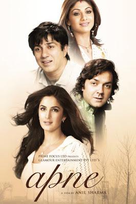 Apne 2007 Hindi 720p DVDRip 1GB ESub