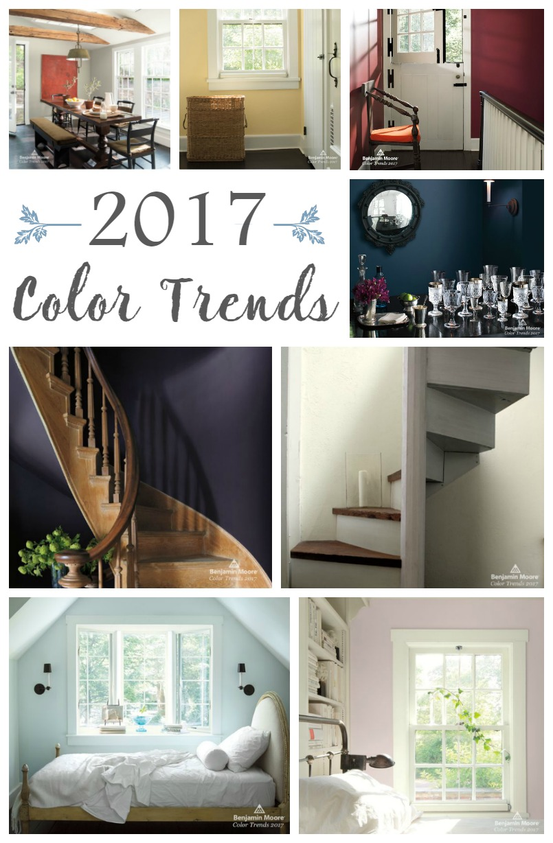 Gorgeous palette of colors in the 2017 Paint Color Trends from Benjamin Moore.