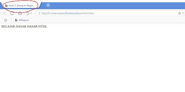 contoh dalam membuat HTML Dasar