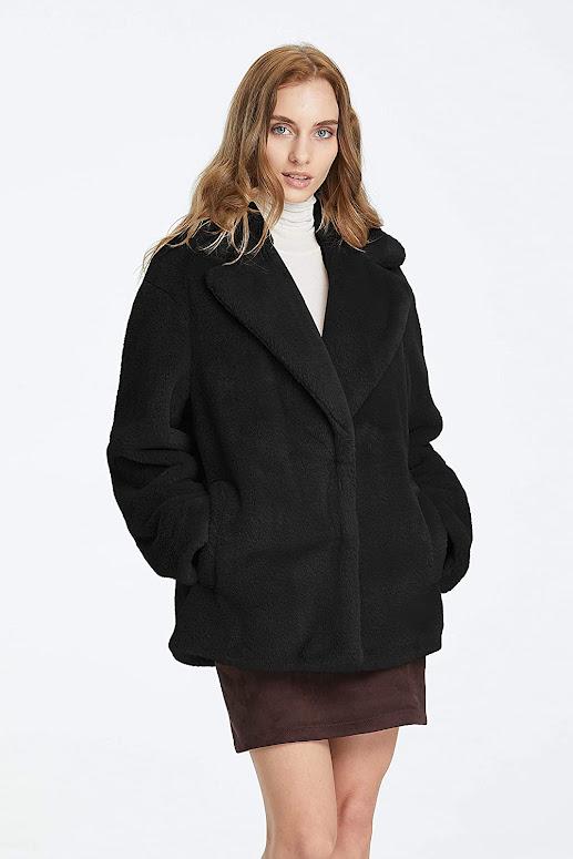 Quality Black Faux Fur Coats Jackets For Women