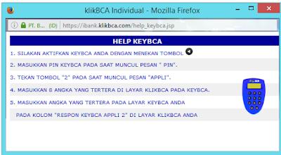 Cara Menambah Daftar Rekening Tujuan di KlikBCA (Internet Banking BCA) - Instruksi Penggunaan KeyBCA