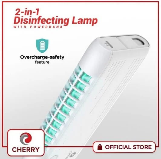 Sanitize Anywhere You Go with Cherry Home's 2-in-1 Disinfecting Lamp with Powerbank; Yours for Only Php1,399