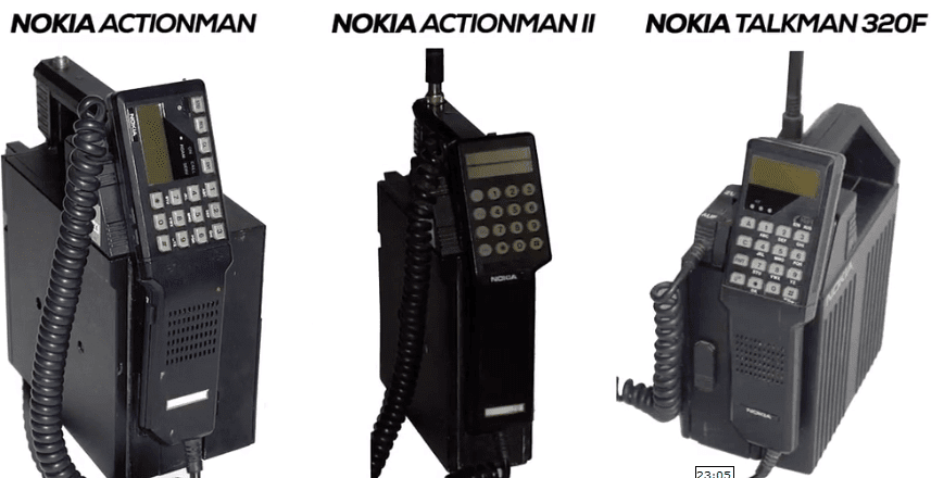 Nokia phones in the year 1984