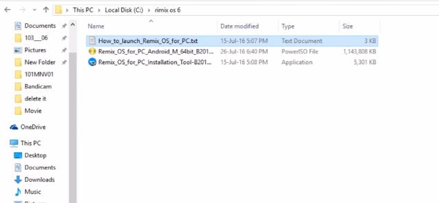 Launch Remix OS