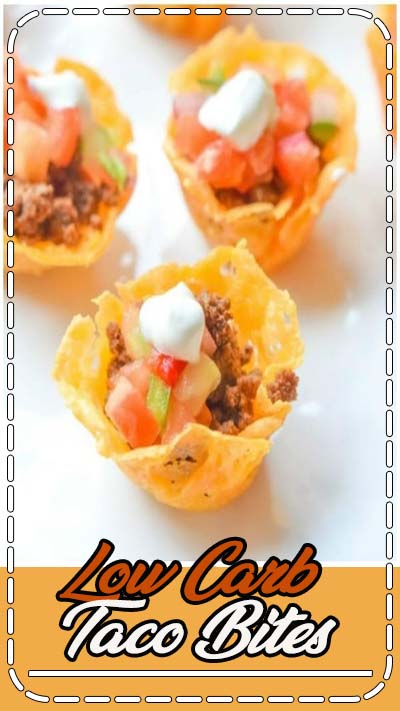 Low Carb Taco Bites | These low carb taco cups are an easy low carb recipe that can be a low carb appetizer for Christmas, New Year's, brunch, or just a quick healthy lunch for those on a low carb diet. The cheesy shells are a keto recipe that will make all of your low carb friends happy! #lowcarb #keto #ketorecipes #lowcarbrecipes #taco #appetizer #brunch #cheese