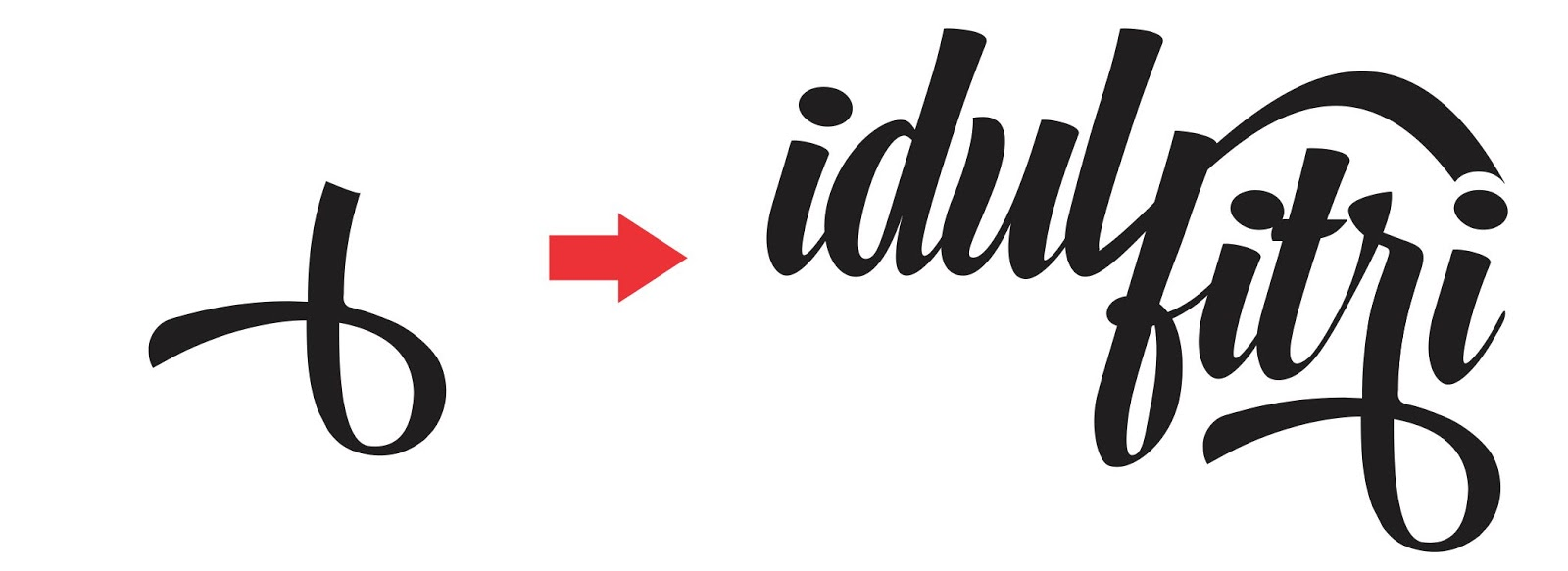 Desain tipografi Ucapan Model Instastory dengan Coreldraw