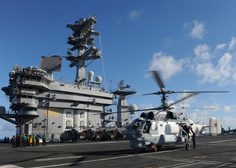 Image of The Day Russian KA27 Helix Lands on USS Nimitz