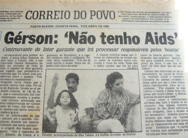 Correio do Povo Gerson 1992