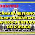 [CAMARA MUNICIPAL] Coronavírus: Câmara Municipal restringe circulação de público externo no Plenário