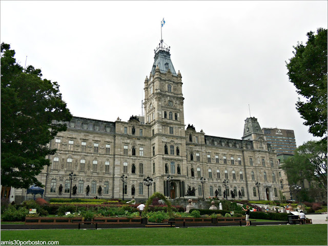 Edificio y Jardines del Parlamento de Quebec, Canadá