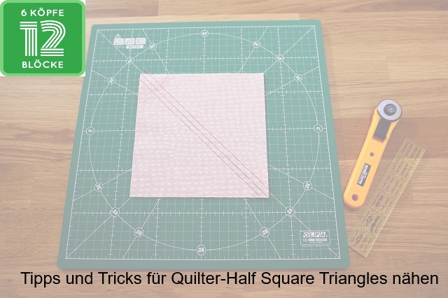 einfach bunt...: Tipps und Tricks für Quilter - Half-Square ...
