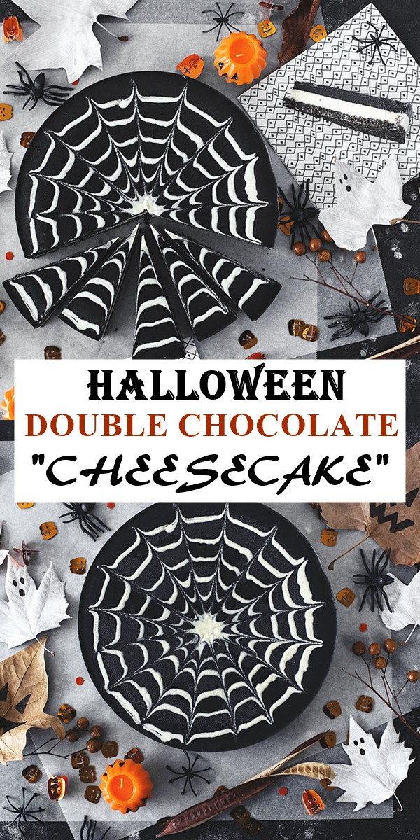 "DOUBLE CHOCOLATE HALLOWEEN ""CHEESECAKE"" #halloweenrecipes"