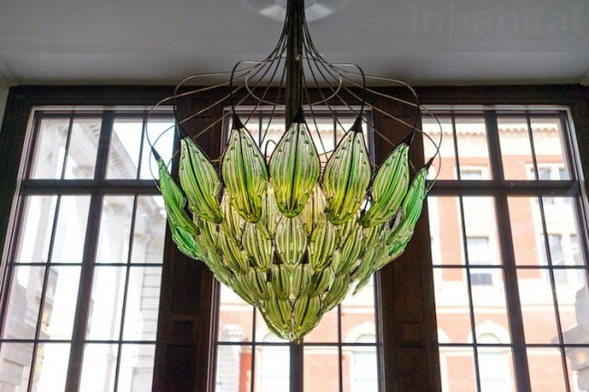 Eco-Friendly Chandelier Made Of Leaves Cleanses The Air Naturally