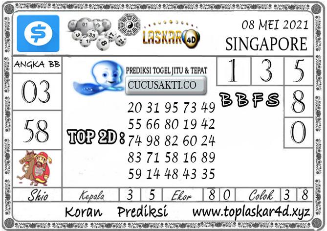 Prediksi Togel SINGAPORE POOLS LASKAR4D 08 MEI 2021