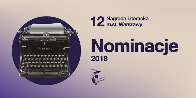 Nominacje do nagrody literackiej m.st. Warszawy