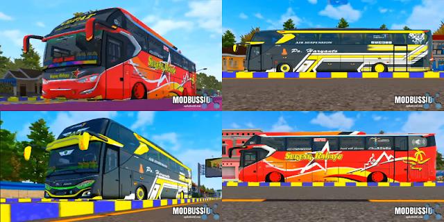 2 MOD Bus Full Anim Terbaik Full Strobo & LED