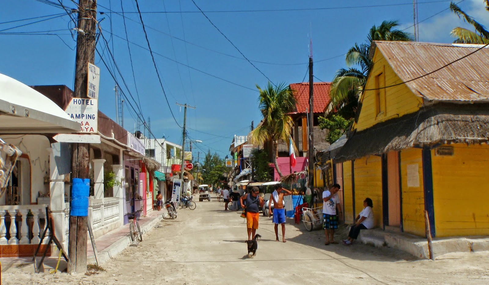 Painted Wall Murals The Obligatory Blog Holbox Island Town By Day