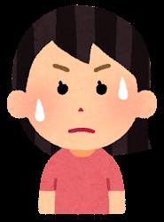 困る表情のイラスト3(女性)