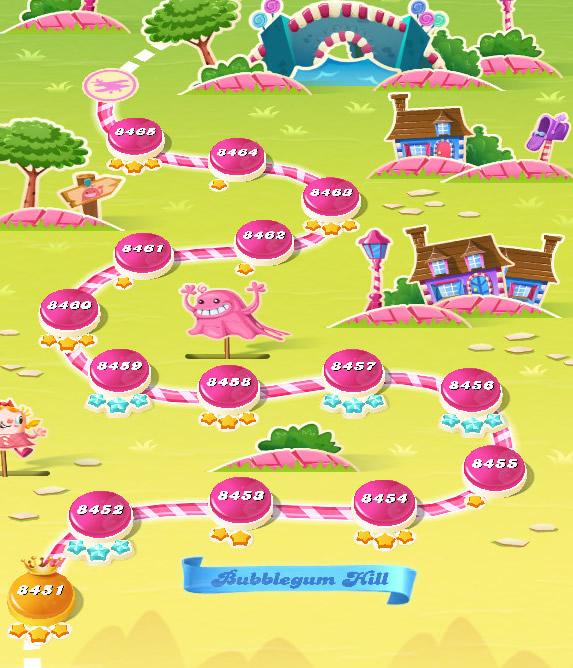 Candy Crush Saga level 8451-8465