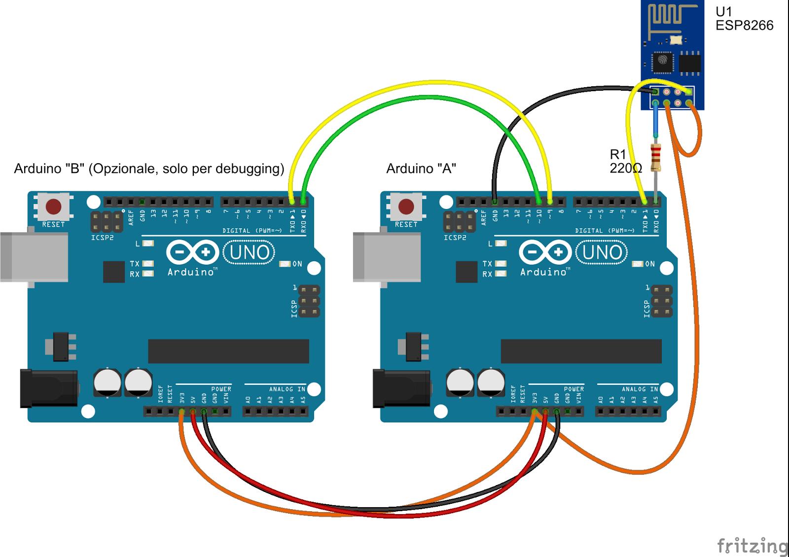 Favorito Daniele Alberti, Arduino 's blog: Modulo wifi low cost ESP8266 e  QE55