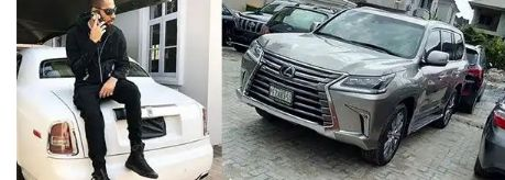 Top richest celebrities in Nigeria and their cars.