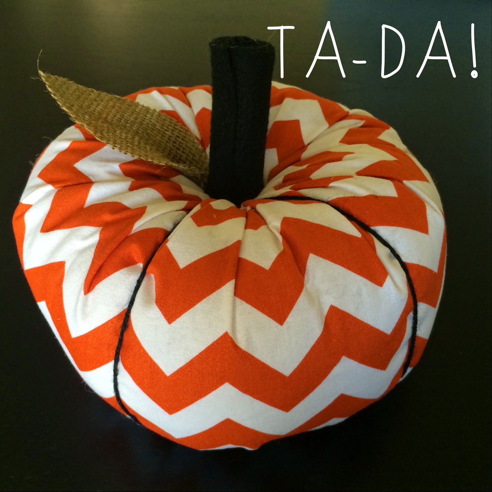 DIY Stuffed pumpkin