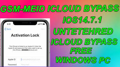 iOS14.7.1GSM-MEID Untethered iCloud BypassWindows iOS14.7.1 iCloud Bypass