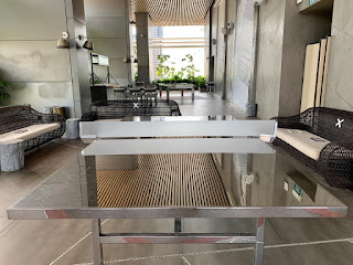 Ping pong table in metallic finish, JW Marriott Singapore Beach Road, 2021