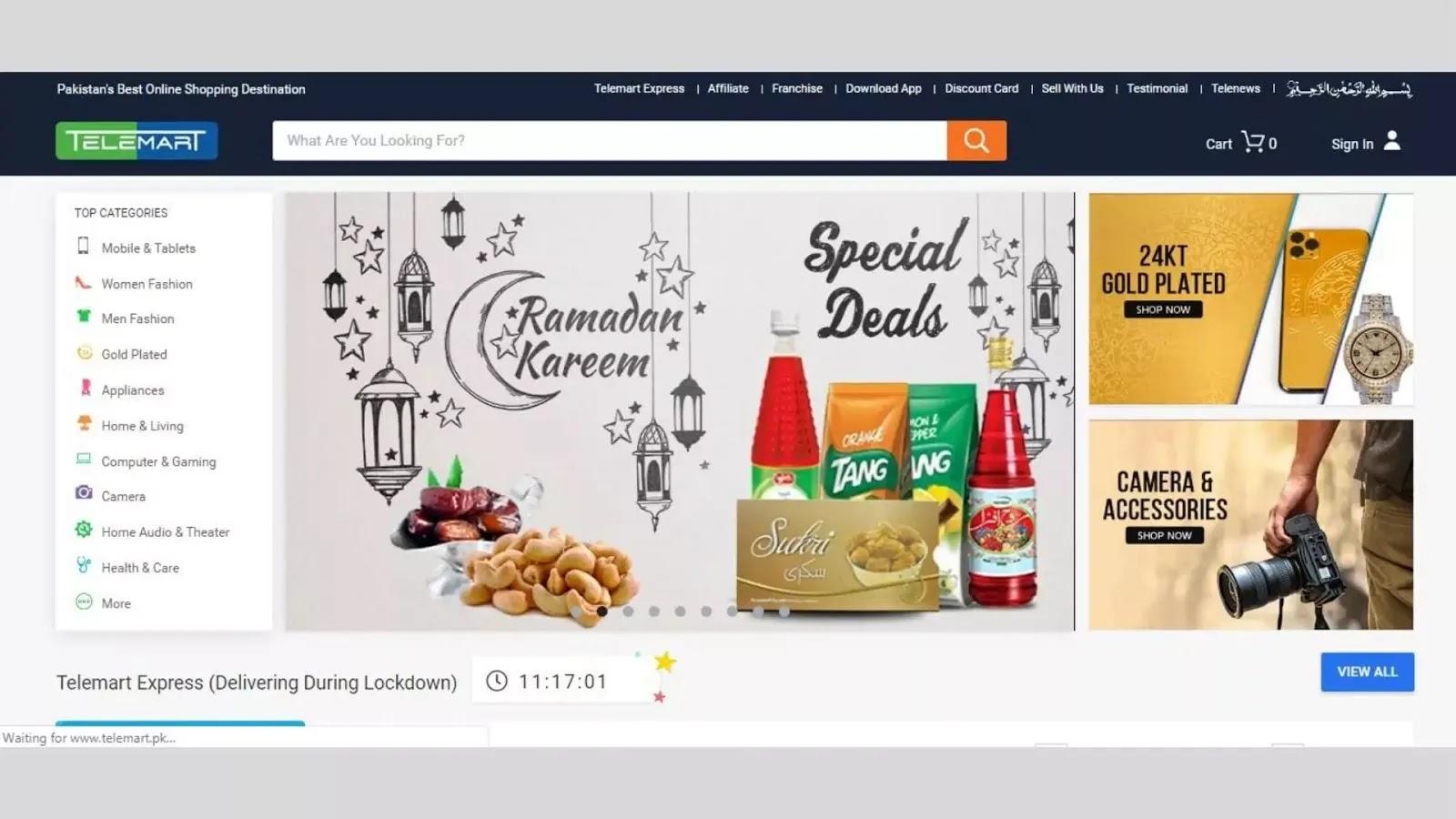 Best Online shopping websites in Pakistan 2020 Telemart.pk