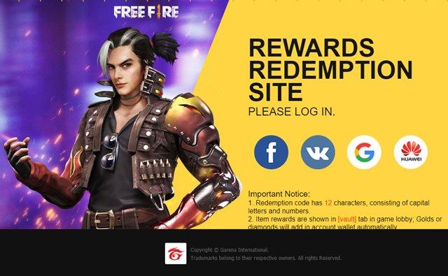 Kode Reedem Free Fire