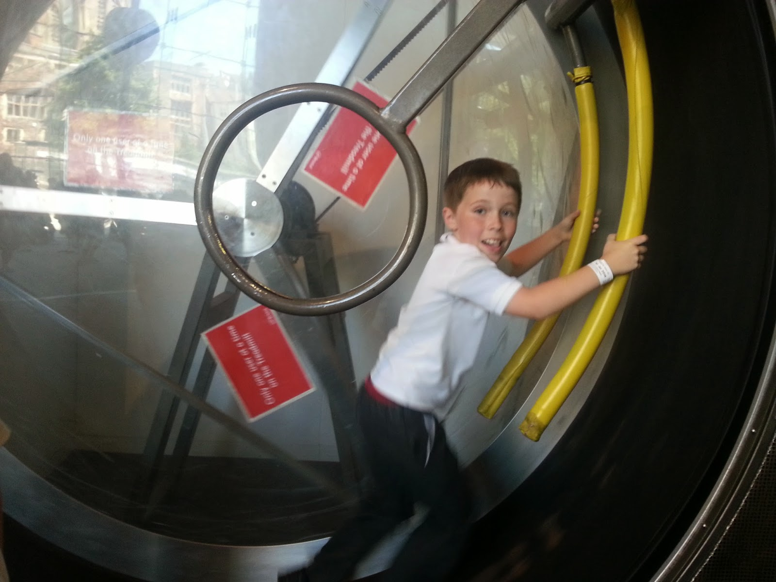 The Human Hamster Wheel at At-Bristol
