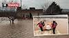Urfa'da sel altında kalan köylüler botla kurtarıldı