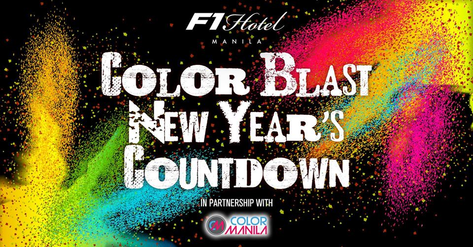 Color Blast New Year's Countdown at F1 Hotel Manila
