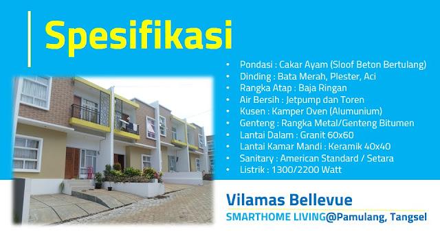 Spesifikasi Rumah di Vilamas Bellevue