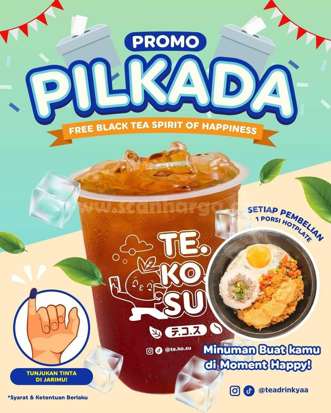 Promo Teadrink Yaa Pilkada! FREE Black Tea Spirit of Happiness