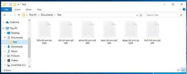 encryptedS (Ransomware DeathHiddenTear)