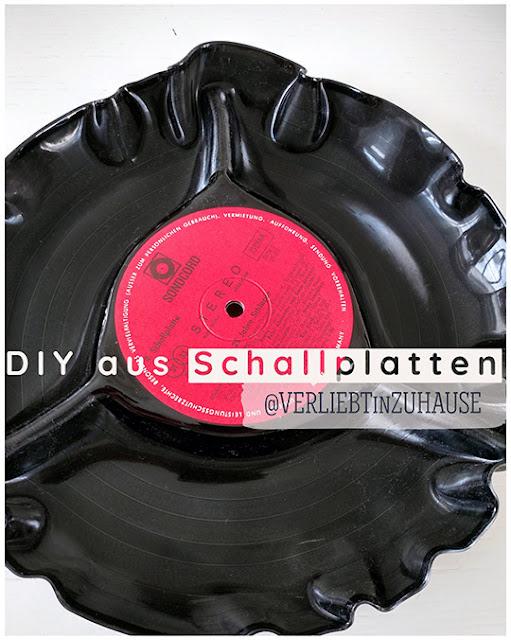 DIY Anleitung: Aus alter Schallplatte eine Schale im Ofen selbermachen (repurposed vinyl record).jpg