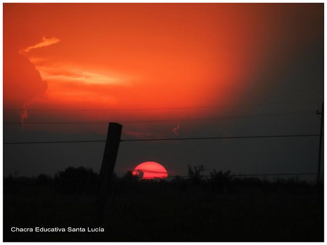 Puesta de sol-Chacra Educativa Santa Lucía