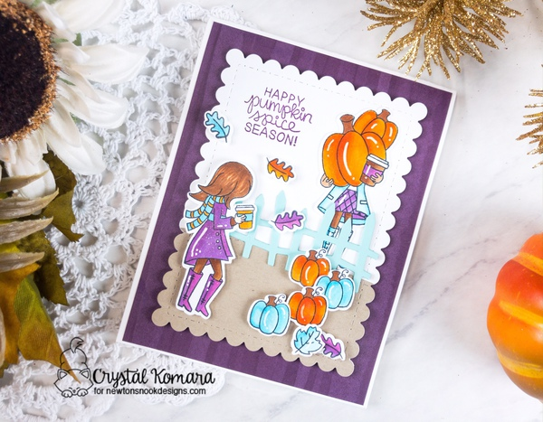 Happy pumpkin spice season by Crystal features Pumpkin Spice, Framework, and Land Borders by Newton's Nook Designs; #newtonsnook