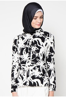Model Batik Muslim Kerja Cantik