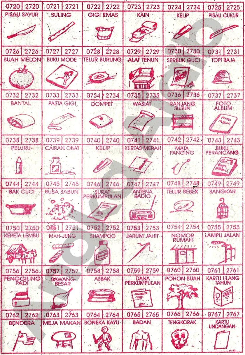 Buku Mimpi 4D Bergambar 0720-0767