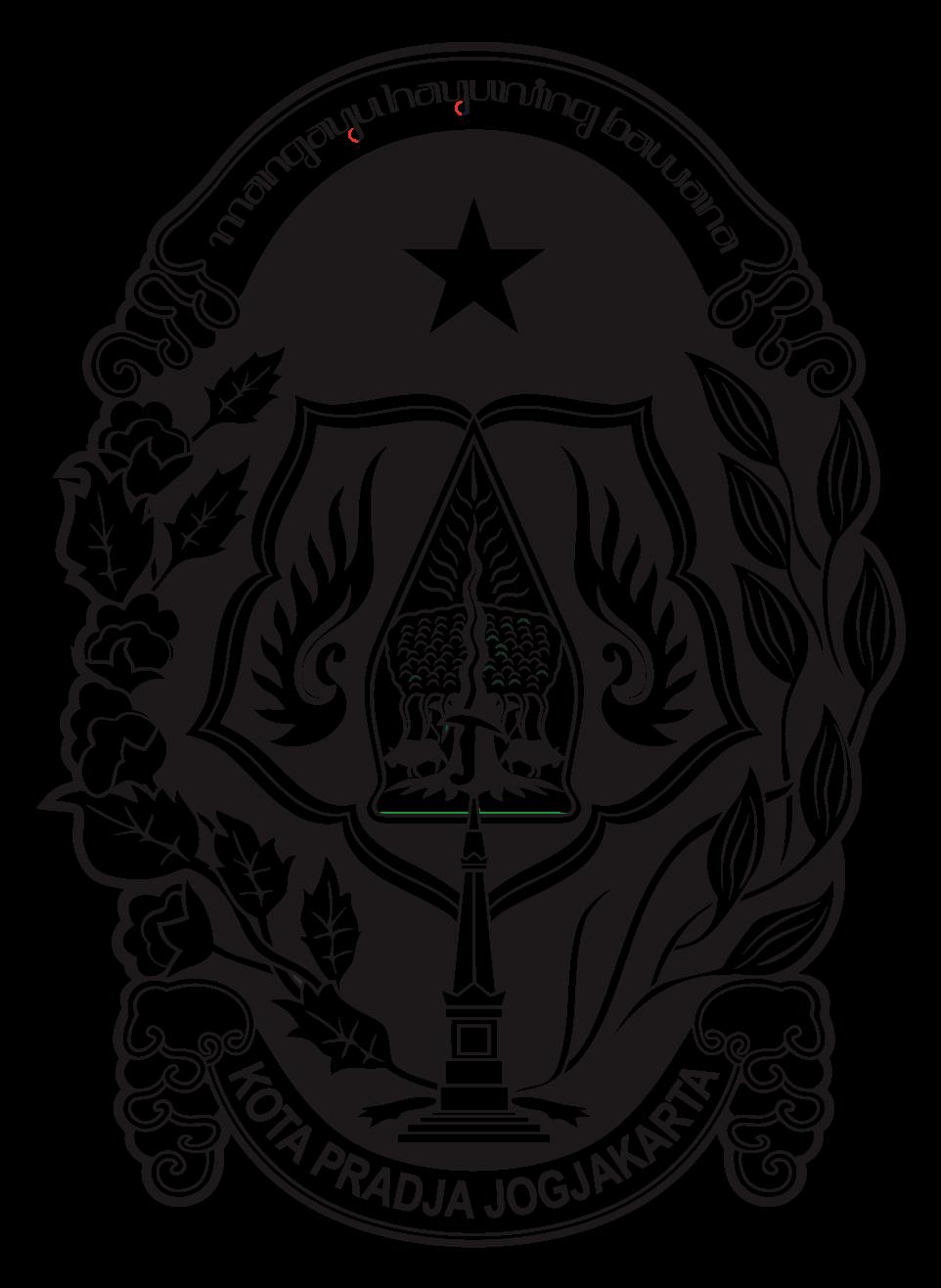 logo kota jogjakarta hitam putih