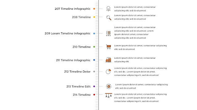 Free Infographic Vertical Timeline PowerPoint Template Slide 2