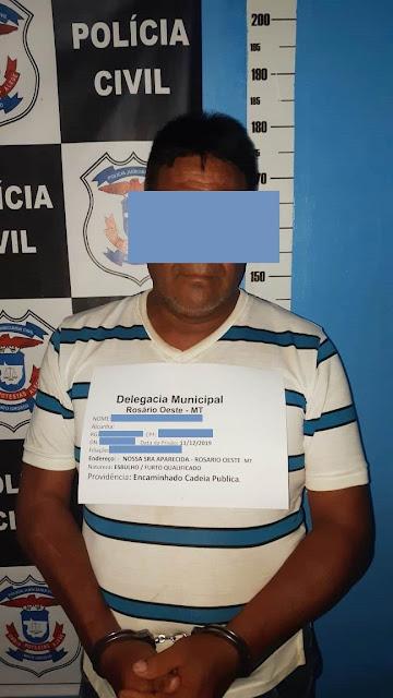 Polícia Civil prendeu suspeito de invadir e se apossar de Propriedade Agrícola na Zona Rural de Rosário Oeste