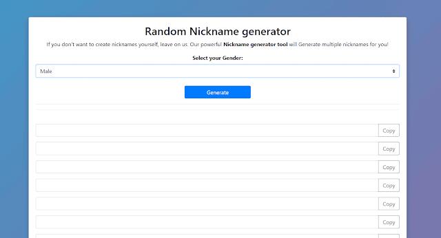 How to use Nickname Generator