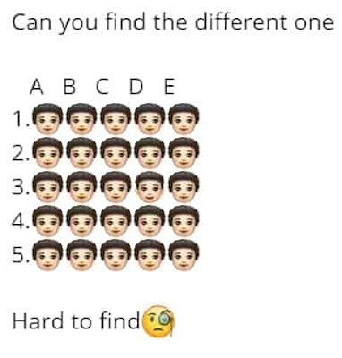 Can You Find The Different One