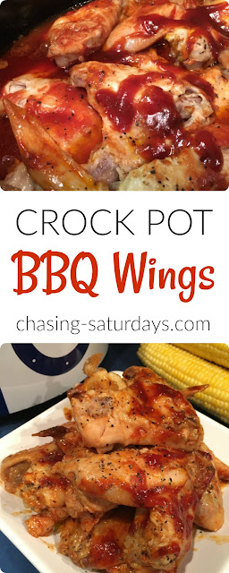 food, crock pot bbq chicken wings