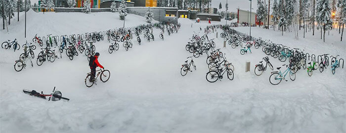 Students In Finland Are Still Riding Their Bicycles To School In -17°C (1.4°F) Weather