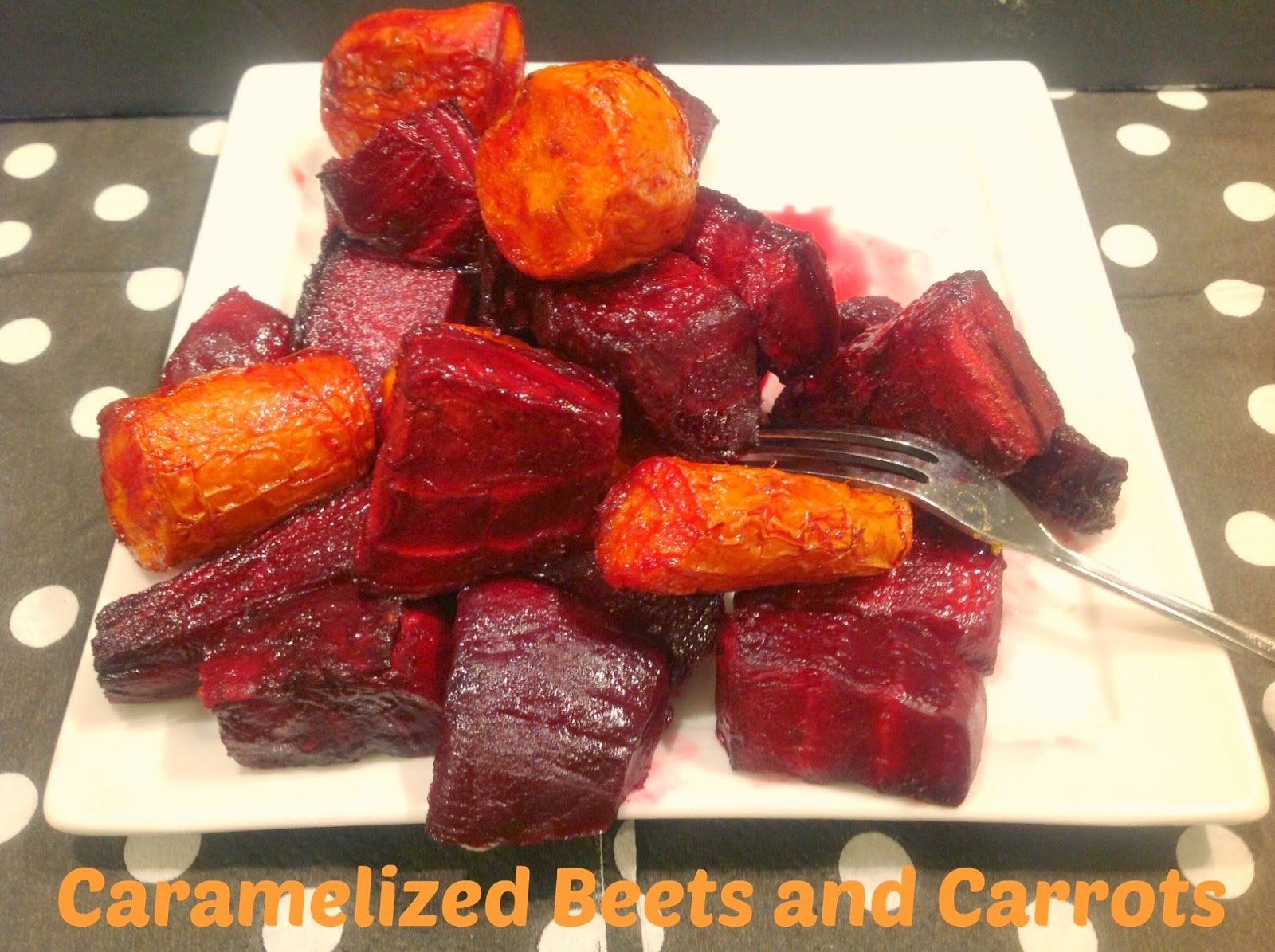roasted caramelized beets in a balsamic glaze